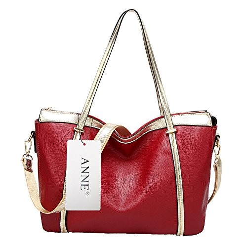 Anne, Borsa tote donna nero Red Red