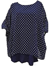 e3f04431ddb fashionfolie Femme Haut Top Tunique Grande Taille Femme 50 52 54 56 58 60  Fluide Chic