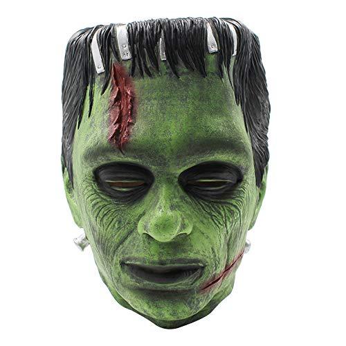 Erwachsene Sexy Kostüm Gangster Für - JYKING Halloween Maske Latex Maske Horror Maske für Halloween Cosplay Partei Kostüm Abendkleid Fasching Karneval Party Dekoration Grün Mittlere Größe