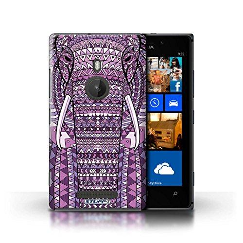 Coque en plastique pour Nokia Lumia 925 Collection Motif Animaux Aztec - Loup-Bleu éléphant-Pourpre