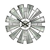 WYZBD Pared decoración Reloj Reloj Redondo Reloj Sala de Estar Dormitorio Pared Colgante Reloj Molino de Viento Colgante,30CM