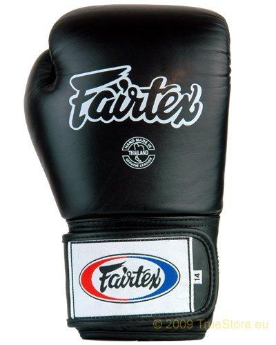 Fairtex Leder Boxhandschuh Tight Fit (BGV1) , schwarz, 12Unzen Fairtex Boxhandschuhe Schwarz