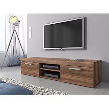 lowboard walnu schwarz fernsehschrank tv rack walnuss. Black Bedroom Furniture Sets. Home Design Ideas