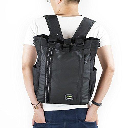 """Mochila 15.6"""", GOX hombres de 3 vías convertible impermeable negocio portátil ordenador portátil mochila / bolsa de mano bolsa de viaje / bolso de viaje (Negro)"""