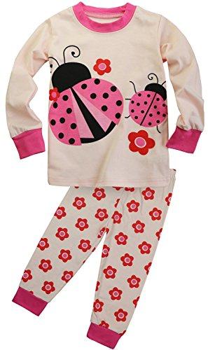 Fancyinn Kinder Schlafanzug Meerjungfrau Festlich Pyjama Baumwolle zu Weihnachten Nachtwäsche 116