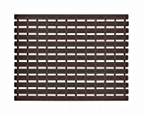 F Fabsouk Premium Shower Mat | Bath Mat (61 x 45 cm) Anti Slip | Skid Proof for Bathroom and Wet Area | Chocolate Brown Color