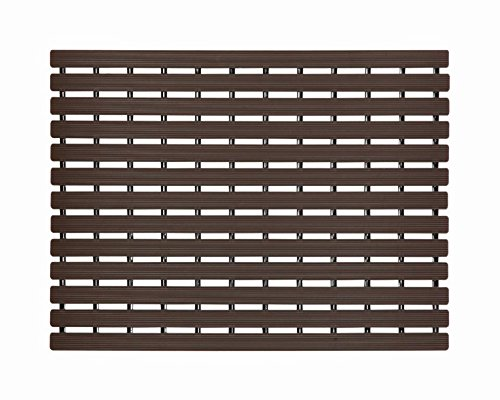 Fabsouk Premium Shower Mat | Bath Mat (61 X 45 Cm) Anti Slip | Skid Proof For Bathroom And Wet Area | Chocolate Brown