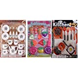 22 Peices Kids Kitchen Set For Girls With Cofee Kids Play Cup Sets - Good Birthday Gift For Kids
