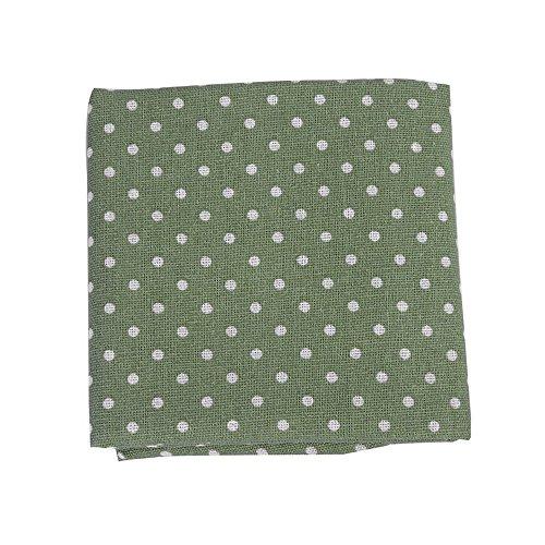 Souarts 1 Stück Stoffpakete DIY Punkt Muster Deko Baumwolltuch Patchwork Stoffe Paket Stoffset 97x51cm Grün