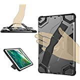DMG Military Grade Shockproof Impact Resistant Kickstand Back Cover for Apple iPad 2018 iPad 6th Gen (Grey)