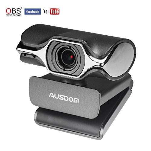 AUSDOM Webcam Pro Computer-Kamera HD 1080P Streaming Web Kamera mit Mikrofon für Skype FaceTime YouTube Twitch, Kompatibel mit Windows, Mac