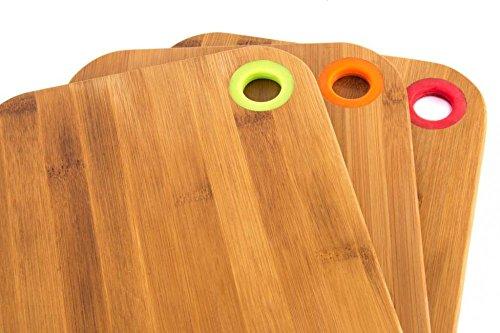 Küchenbrett Holzbrett Schneidebrett aus Bambus 28x20cm, natur -- pflegeleicht und messerschonend