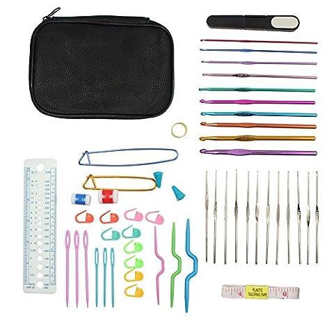 woson 52crochets et accessoires pour aiguilles à tricoter en aluminium fil à coudre Craft Outils