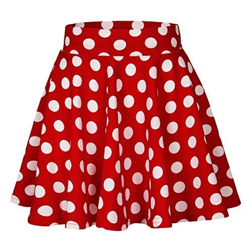 Mickey Minnie Und Kostüm - Urbancoco Damen Mädchen Basic Solid vielseitige dehnbaren informell Mini Skater Rock (M, #9)