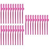 MagiDeal 30pcs Pajas Plásticas Rosas Divertidas Bebiendo Accesorio de Fiesta de Noche Willy Dicky para Fiesta de Gallinas de Noche