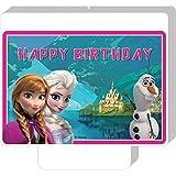 Disney The Ice Queen y congeladas Olaf torta vela vela de cumpleaños