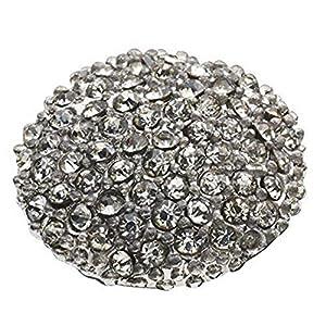 Pavo Real Pequeno Diam 12mm Pavé Gun rhodium crystal