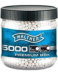 Walther Premium Airsoft Blanco 6 mm 0,20 G 5000 50005000 BBs + G8DS adhesivo