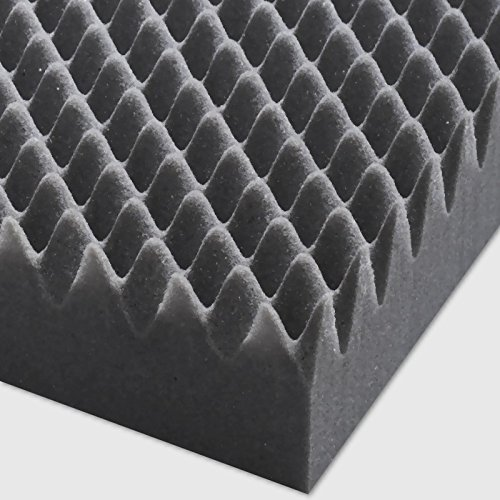 Akustik-Noppenschaum-Matte Noppen Schaumstoff je 1000x500x60 mm Selbstklebend