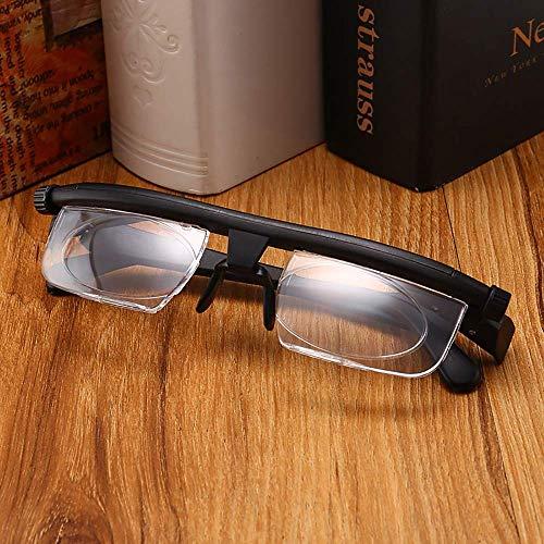 ZUZU Fokus Einstellbare Lesebrille Myopiebrille -6D bis + 3D Dioptrien Vergrößerung Variable Stärke