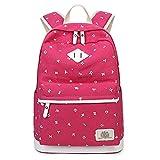 M-hwbb Niedliche Frauen Buch Tasche Mädchen Laptop Canvas Rucksack für Kinder Daypack Rucksack Marineblau (Farbe : Style F)