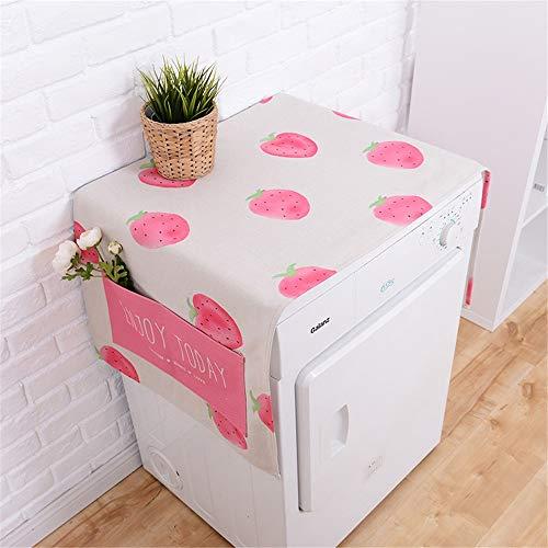 Preisvergleich Produktbild Waschmaschinendeckel Kühlschrank Multifunktionswaschmaschine Obere Abdeckung Kühlschrank Staubschutz Roller Staubschutz Geeignet für die meisten Top- oder Frontlader-Waschtrockner ( Farbe : Natural )