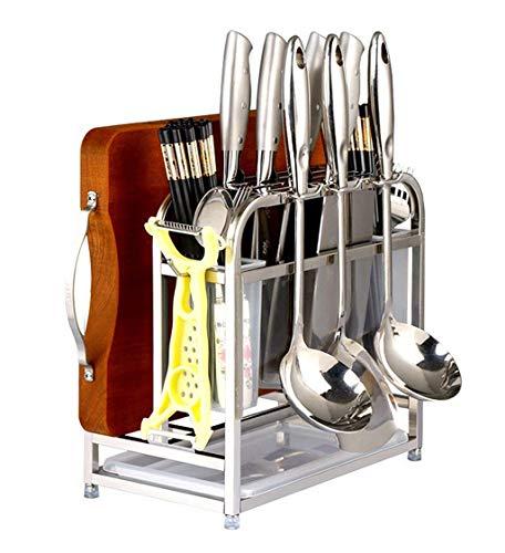 JBP Max Küchen Organisatoren Spice Rack Multi-Funktion Edelstahl-Messerhalter Hack Brett EIN Küchenregal Liefert Küchenmesser-Ablage Ständer Stäbchen Messerhalter Hack-brett