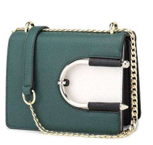 Donne Top In Pelle In Pelle Manico Shell Borsa Messenger Bag Cross Body Large Large Green