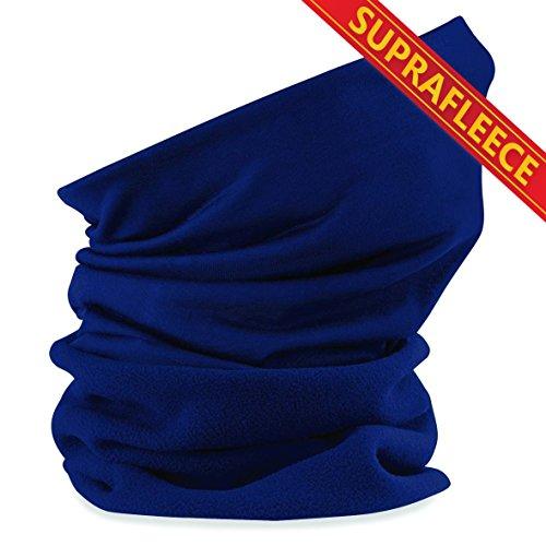Schlauchschal aus Mikrofaser | Schlauchtuch | Neckwarmer | Halstuch | Bandana | Multifunktionstuch | Kopftuch | vielseitig und in verschiedenen Farben (Suprafleece French Navy)