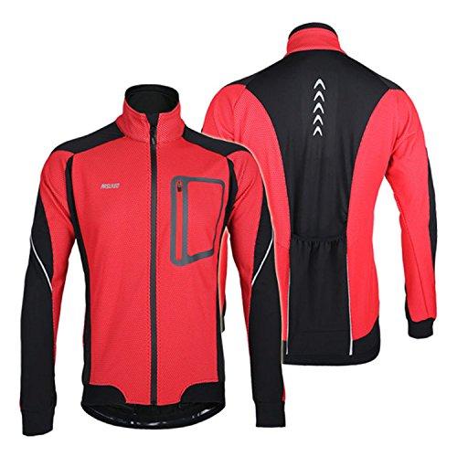 Fahrrad Bicyle Radfahren Sport Winddicht Wasserdicht Atmungsaktiv Bekleidung Jacke Wind Mantel Rot (Jacke Forum Herren)