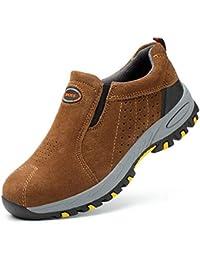 Botas Casual de Hombre Primavera y otoño Cómodos Zapatos de Trabajo Botas Casual Antideslizantes Transpirables Calzado