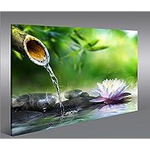 Cuadro en Lienzo Wasser Zen V2 1p Impresión sobre lienzo - Formato Grande - Cuadros modernos