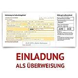 Einladungskarten zum Geburtstag (60 Stück) Überweisung SEPA Bank Konto Zahlung Geldsendung