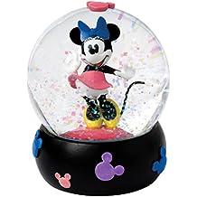 Enesco Enchanting Disney - Bola de nieve, Minnie, resina y vidrio, 10 cm