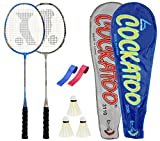 #7: Cockatoo CRB-01 Badminton Racket Set Pack of Two With Two Cover 3 Shuttlecock& Two Grip Size: 27 inch