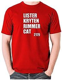 Red Dwarf - Lister, Kryten, Rimmer, Cat 2179 T Shirt
