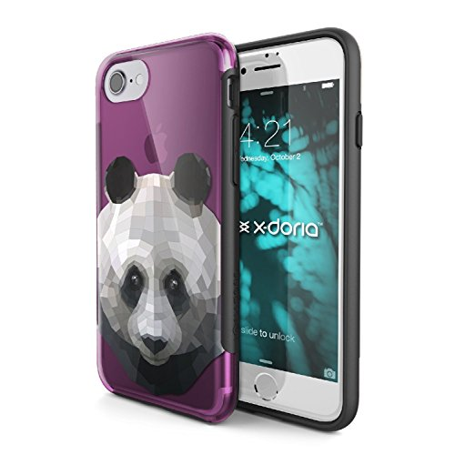 Cas de l'iPhone 7, X-Doria (Revel) pour iPhone 7, conception unique, Imprimé animal, antichoc, résistant aux rayures, protection iPhone premium 7 Case(Panda) Panda