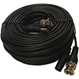 HDView Pre-made All-in-One BNC Video Power Cable Plug And Play Combo Coaxial Cable For HD Megapixel 1080P/720P TVI CVI AHD Analog Camera (Black 100 Ft Feet)