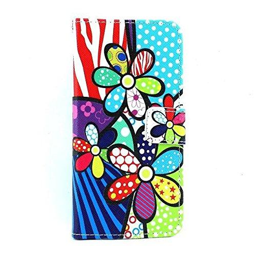 "Monkey Cases® iPhone 64,7""- Flip Case-Fleurs-Mat-Premium-Original-Neuf-Sac-Flowers # 2"