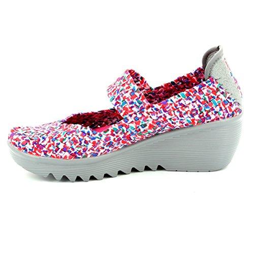 Heavenly Feet RAINBOW Pink multi Womens trainers 40