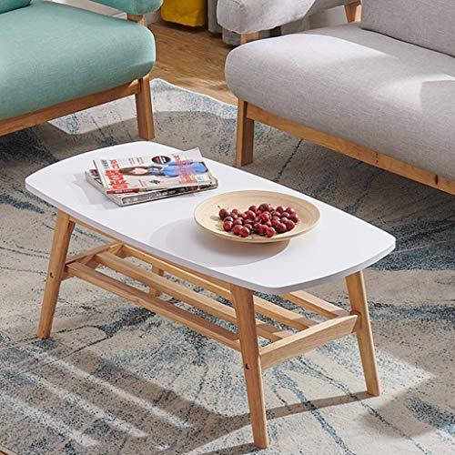 HU Doppelter Fester hölzerner Tabellen-Balkon-zufälliger einfacher Kaffeetisch (Color : White) -