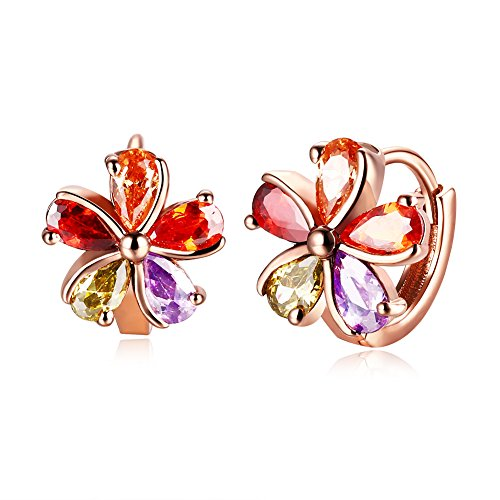 Il cristallo austriaco della piastra dell'oro 18K ha fatta con gli orecchini/taccuino / goccia di disegno di modo per la scatola di regalo di disegno delle donne Swarovski