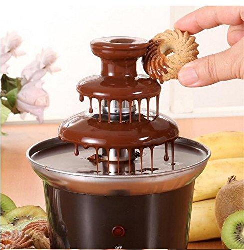 JUKUB La Fuente Casera de 3 Niveles De Chocolate Y Fondue De Fuente De Chocolate Ideal para Fiestas Infantiles Y Bodas, Etc.