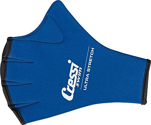 Cressi Aqua Fitness Handschuh Swim Gloves, blau, M, DF200021