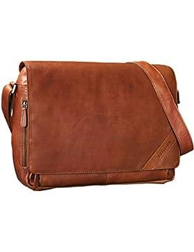 STILORD 'Nick' Umhängetasche Leder Herren Damen Unitasche 15.6 Zoll Laptoptasche Aktentasche Bürotasche Vintage...