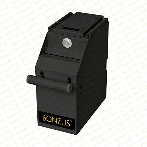 Cassaforte per banconote meccanica Securina24® Cassaforte per denaro Cassetta blindata Cassaforte Pos Armadietto blindato per cassa Conta-soldi Cassetta portavalori Cassetta di sicurezza per cassa (nero)