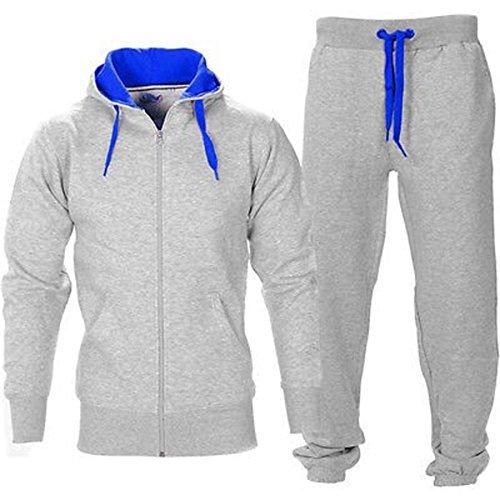 BE-JEALOUS-Herren-Essentials-Contrast-Trainingsanzug-Fleece-Kapuzenpullis-Jogginghose-Jogginghose-Gym-Set
