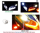 #8: UNIQSTUFF 2Pc Headlight Neon LED DRL Tube Driving White, Turning Yellow Flexible 30cm For All Bike, Scooter Daytime Running Light Bike Motorcycle(Free 1 Pair Parking Led) For Yamaha YZF R15
