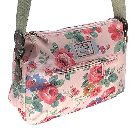Casual Stylish Floral - Amelia Rose London® - Crossbody messenger shoulder canvas Bag - Satchel Flower Vintage Design for All small Girl, lady. & women