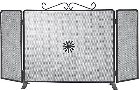 k2calore kt0557–écran de fer forgé (fonction Salva étincelles, 90x 50cm)